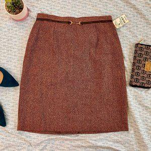 NWT Worthington Espresso Tweed Skirt